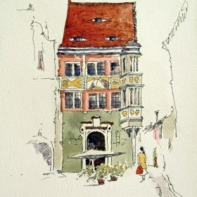 Ink and Watercolor, Görlitz, Germany