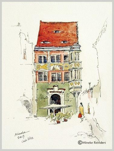 Ink and Watercolor, Görlitz, Germany