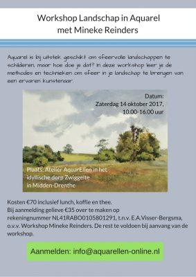 Workshop Landschap in Aquarel Mineke Reinders