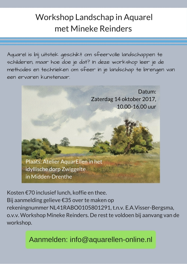 Workshop Landschap in Aquarel Mineke Reinders