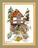 flower market framed