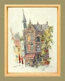nijmegen corner cafe framed