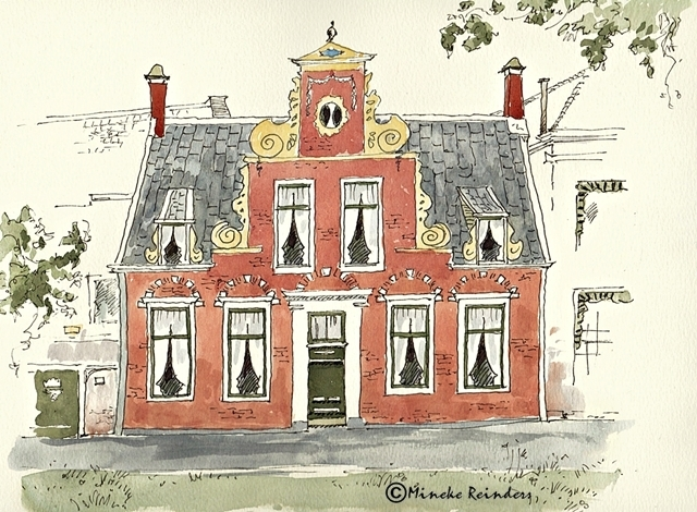 2017-011017-art-minekereinders-ink-watercolor-inktober-day1-Groningen