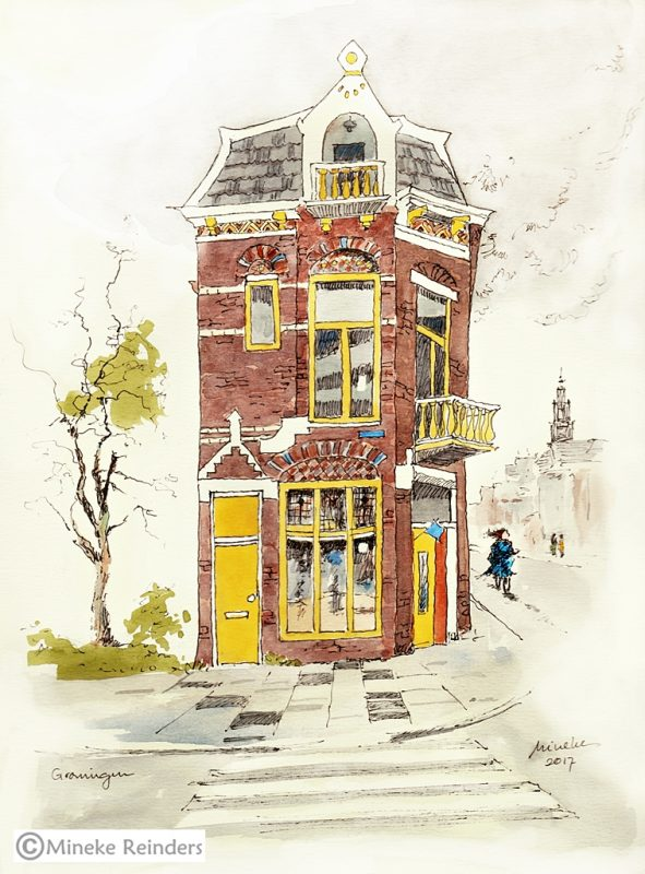 2017-011117-art-minekereinders-ink-watercolor-inktober-day31-groningen