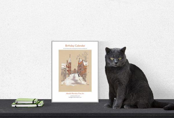 birthday calendar cat