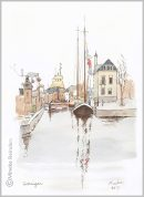 art-minekereinders-ink-watercolor-groningen-winterwelvaart