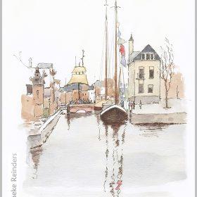 art-minekereinders-ink-watercolor-groningen-winterwelvaart