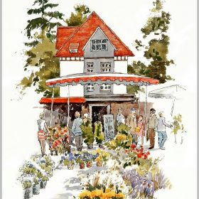 art-minekereinders-ink-watercolor-bielefeld-flowermarket