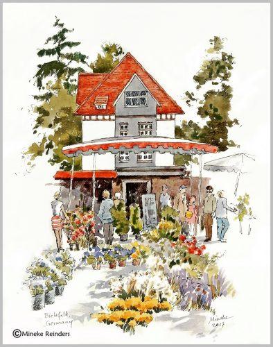 art-minekereinders-ink-watercolor-bielefeld-flowermarket