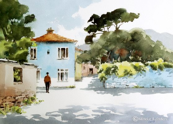 Mineke Reinders - Memory Lane - watercolor 25x35 cm