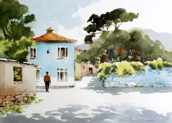 Mineke Reinders - Memory Lane - watercolor 25x35 cm