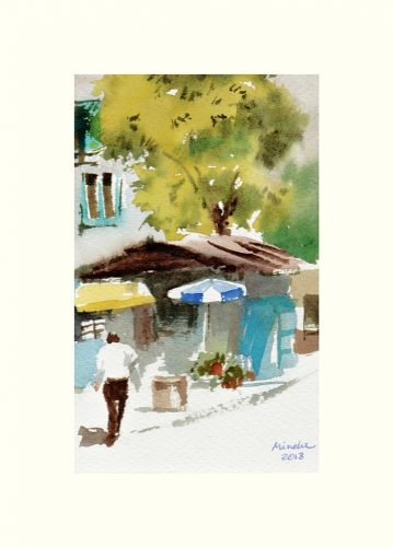 2018-050618-art-minekereinders-small-watercolor-blue-and-white-umbrella