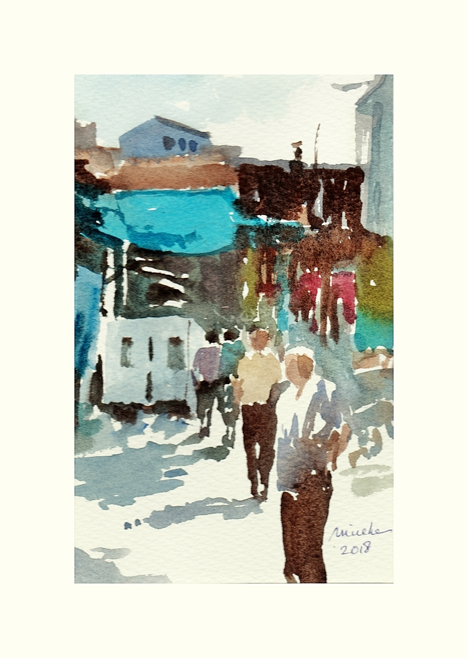2018-100618-art-minekereinders-small-watercolor-market