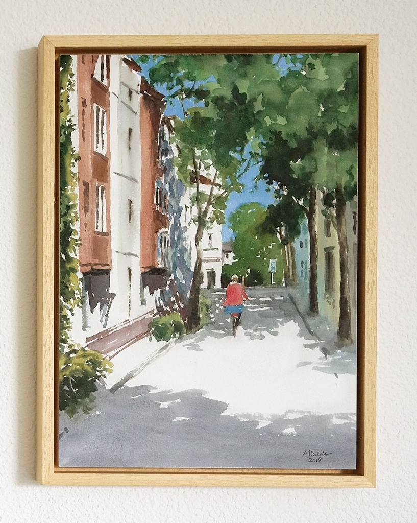 Framed watercolor 3