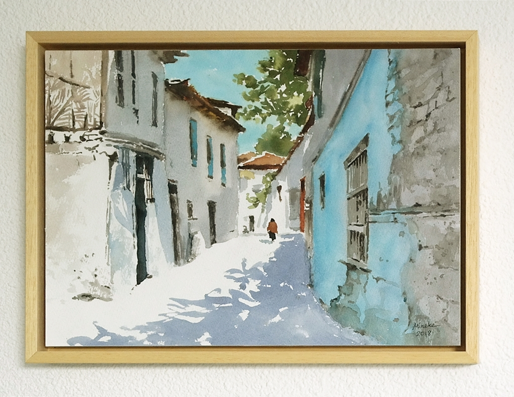 Framed watercolor 1