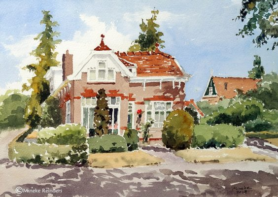 Summer Art Event - Schoolmaster's house Loon - watercolor - Mineke Reinders