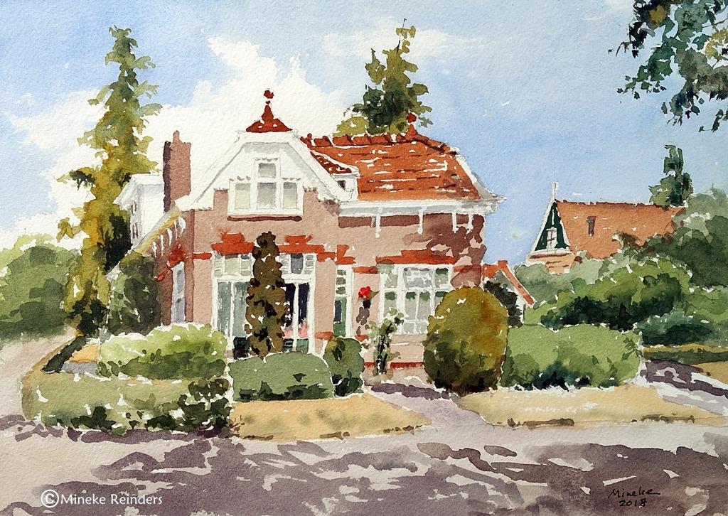 Summer Art Event - Schoolmaster's house Loon - watercolor - Mineke Reinders