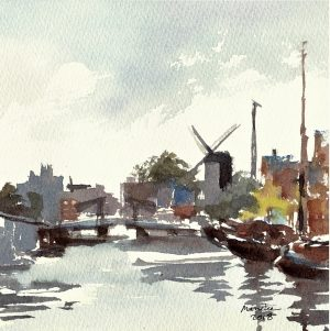 2018-110618-art-minekereinders-small-watercolor-dreaming-holland