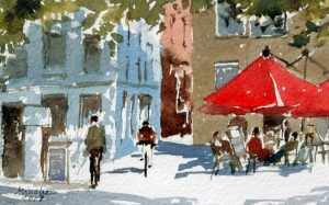 2018-110818-art-minekereinders-smallpainting-red-umbrella
