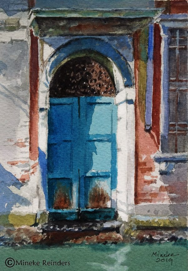 Mineke Reinders Blue Waterway Entrance Venice