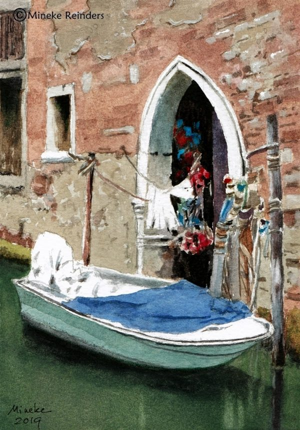 mineke reinders watercolor quiet backwater venice