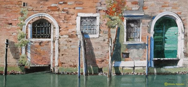 mineke reinders watercolor venice door to door