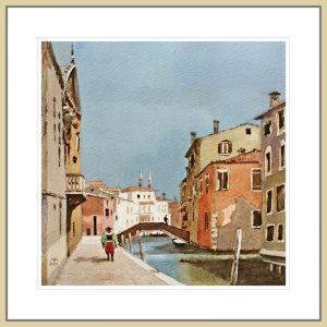 Mineke Reinders - Venetian Dreams: Summer, watercolor and gouache - framing suggestion