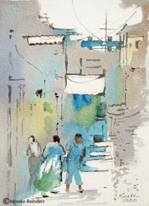 Izmir 13 Mineke Reinders Watercolor 2020