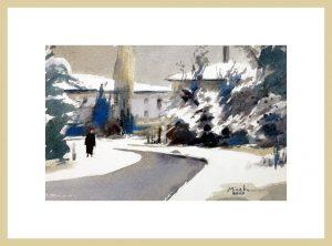Mineke Reinders Watercolor: Winter Blues 2020