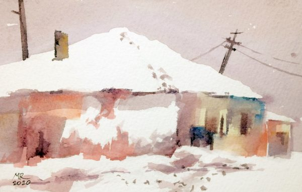 At the Edge of the World Mineke Reinders Watercolor 2020