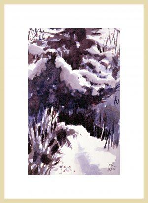 Fresh Snow Mineke Reinders Watercolor 2020