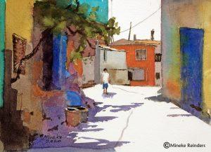 Izmir 6 Mineke Reinders Watercolor 2020