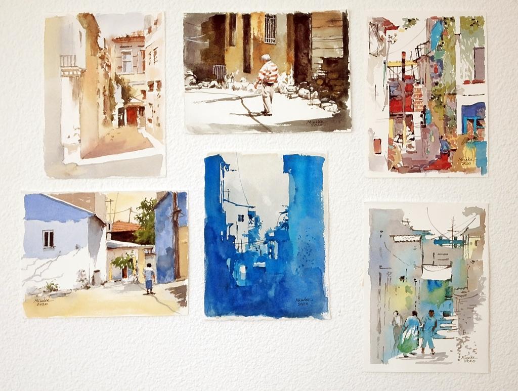 Mineke Reinders Izmir Watercolors Wall Display