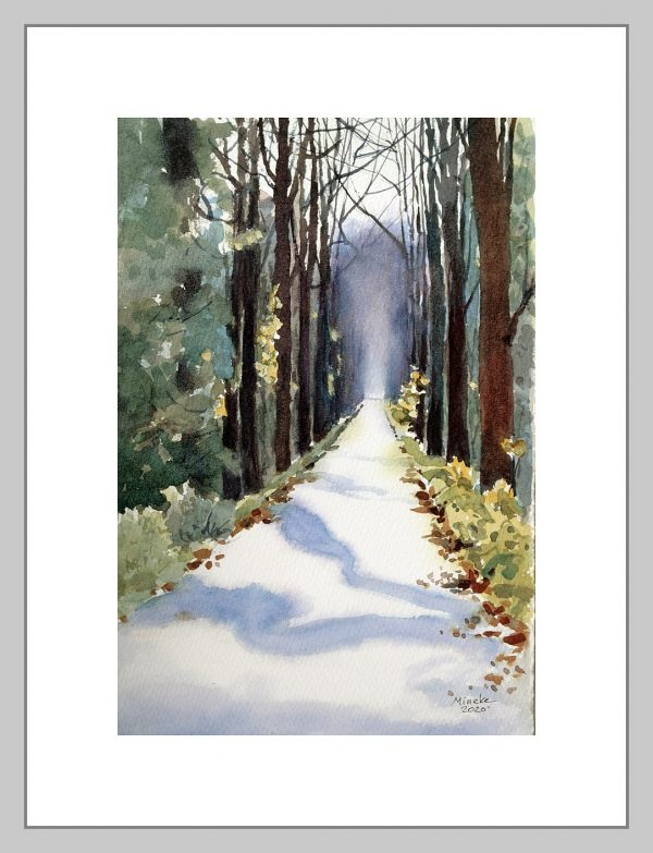 Closer to Home: Forest Path - Mineke-Reinders-Watercolor-210720