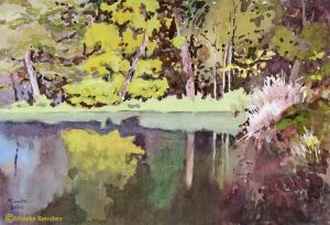 Closer to Home - Forest Pond -Mineke-Reinders-Watercolor-240720