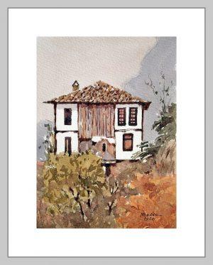 Safranbolu 2 Mineke Reinders Watercolor 2020