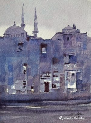 Istanbul Blues Mineke Reinders Watercolor 210820-4