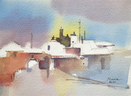 Dreamscape I Mineke Reinders Watercolor