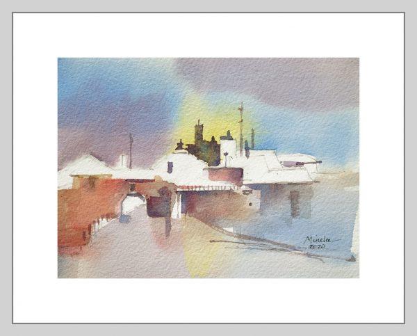 Dreamscape I Mineke Reinders Watercolor 120820