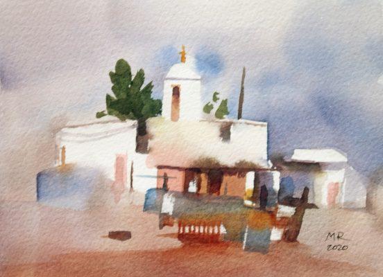 Dreamscape II Mineke Reinders Watercolor