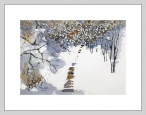Snow Steps II Mineke Reinders Watercolor 200820-2