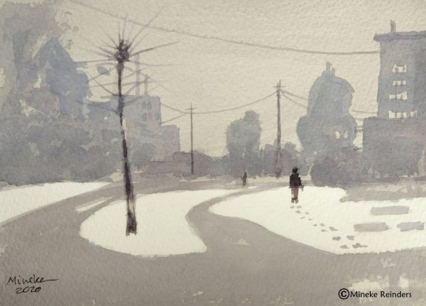 Closer to Home: Snow and Mist Mineke Reinders Watercolor 150820