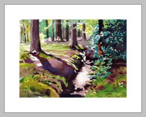 Woods 02-220421-minekereinders-watercolor-frame
