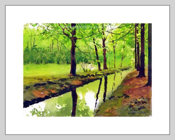 Woods 06-070521-minekereinders-watercolor-frame