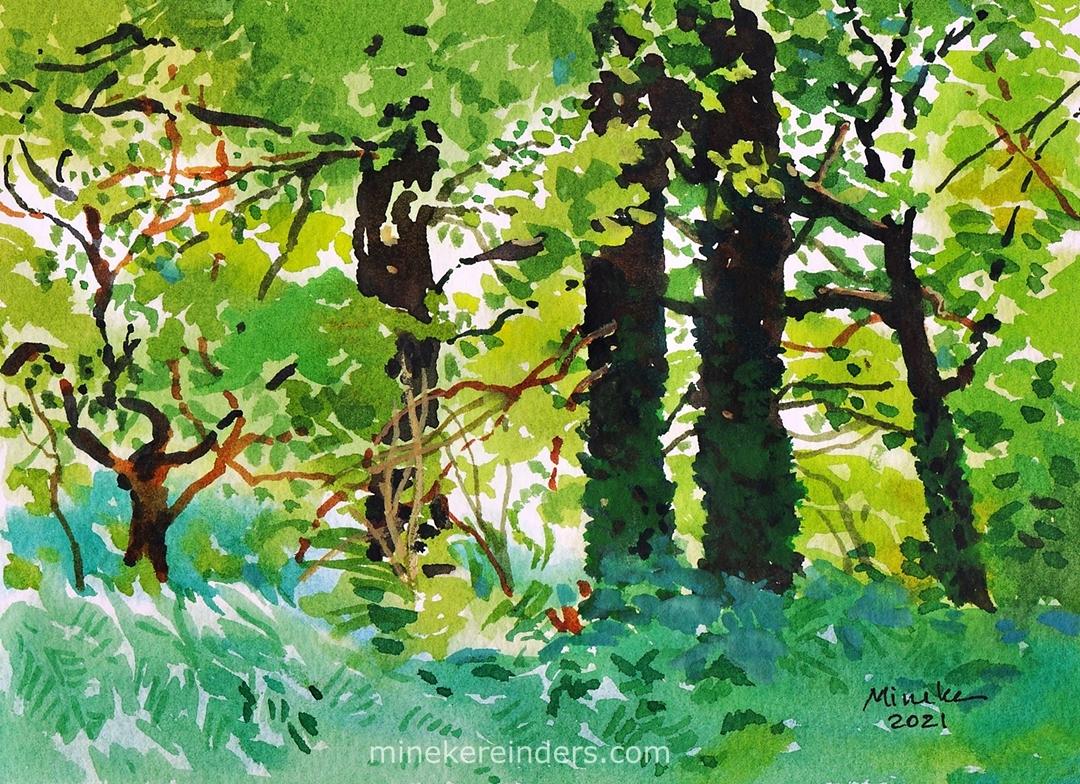 Woods 14 - 030621-minekereinders-watercolor